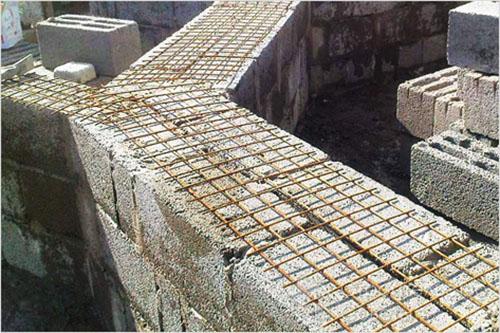 кладка стены шлакоблоками