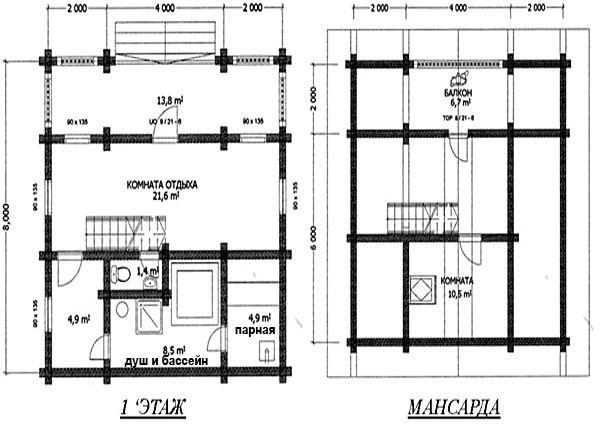 Проекты домов с баней под одной крышей