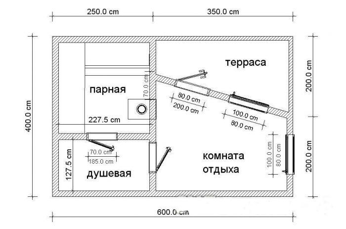 Баня 4 на 6 из бруса: проект, планировка, фото 4