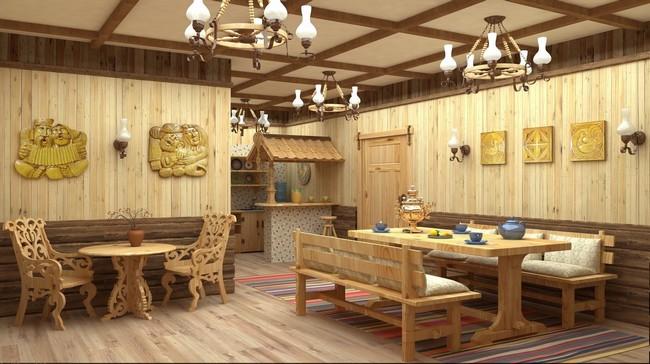 Комната отдыха в бане дизайн