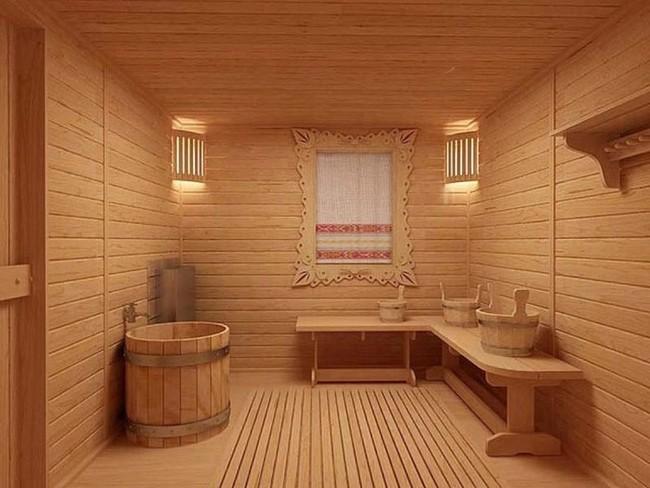 Душевая в бане дизайн