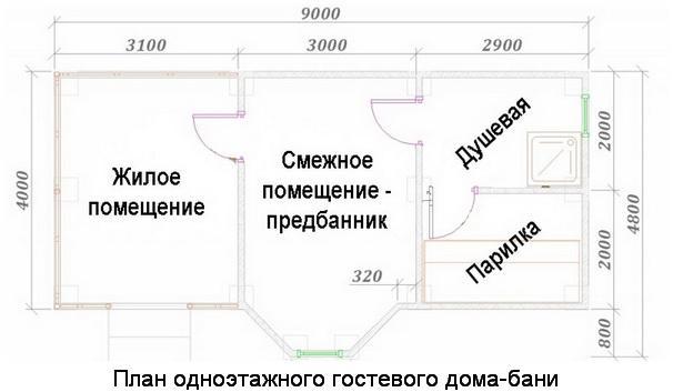 Гостевой домик своими руками схема 81
