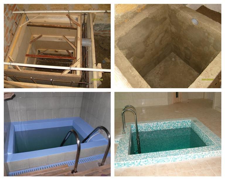 Как построить баню с бассейном своими руками 75
