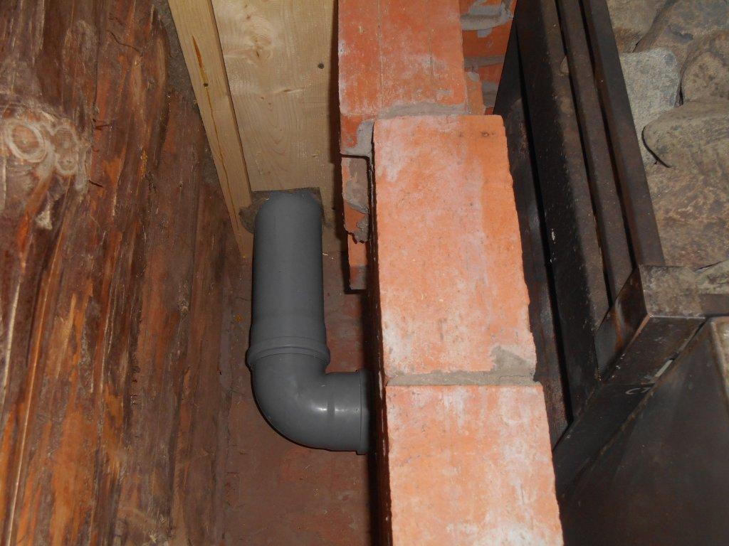 Трубы для вентиляции в сауне