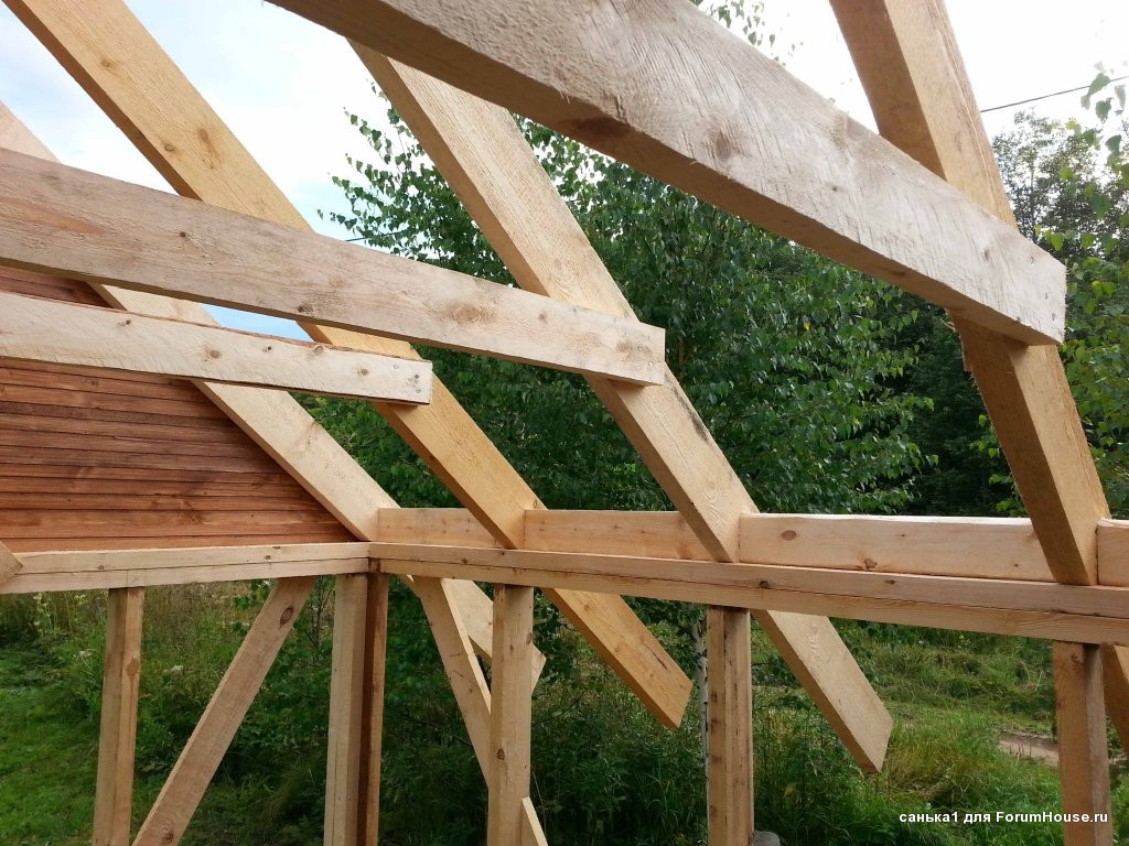 Крыша односкатная своими руками на террасу