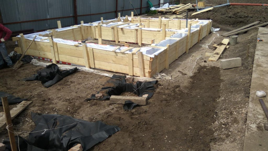 Фундамент для дома  из фбс блоков 122