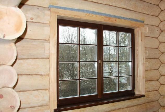 Бани с деревянными окнами