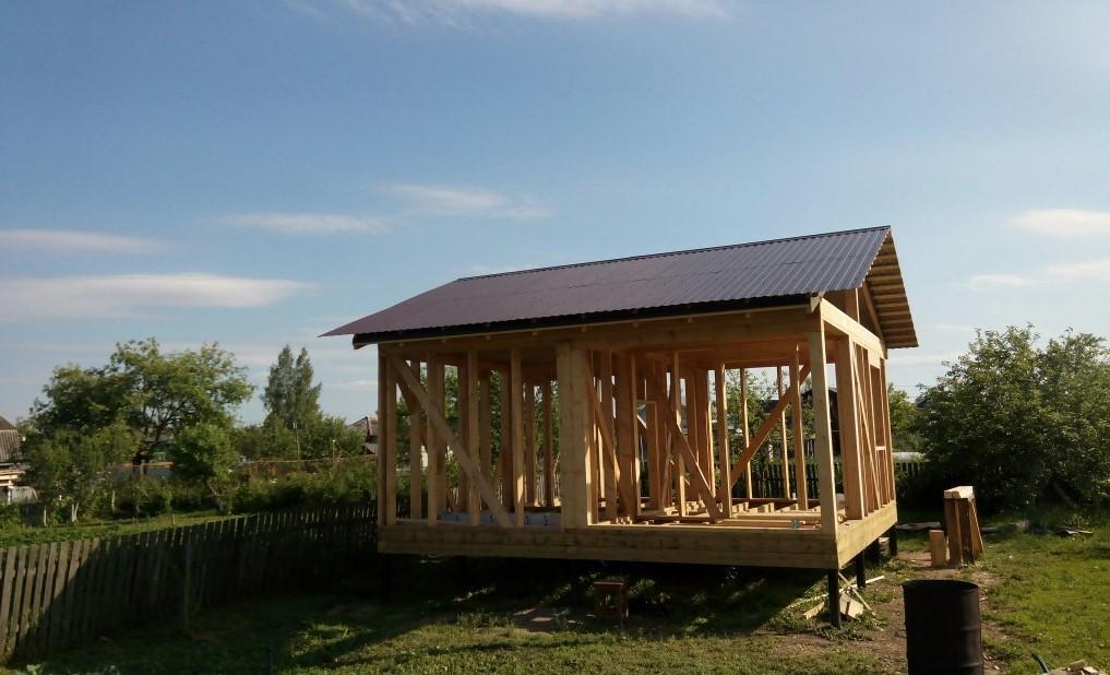 Строительство каркасной бани своими руками – от фундамента до крыши