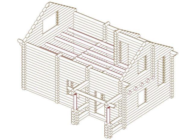 Баня с жилым вторым этажом