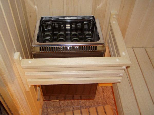 открытая напольная квадратная печь